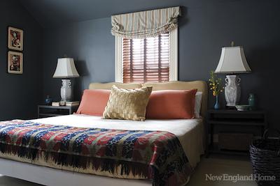 Décoration: conseils et exemples pour une chambre bleue.