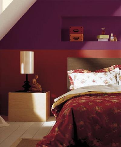 D corer la chambre des combles id es pour s 39 inspirer - Camere da letto colorate ...