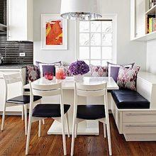 Decoration: la salle à manger, l\'espace convivial entre tous.