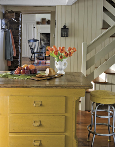 jaune, blanc, et bois naturel l?g?rement cendr?