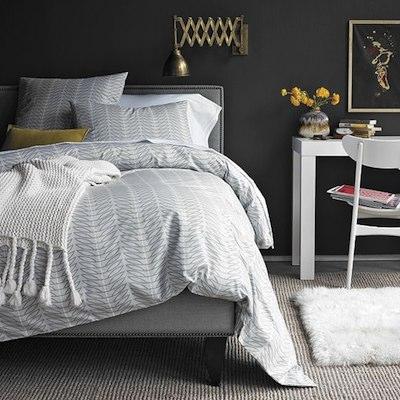 Le raffinement d\'une chambre en gris