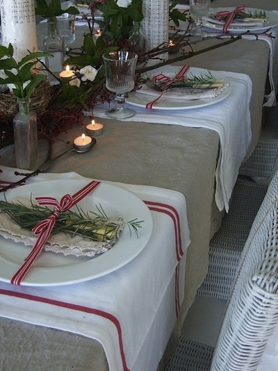 decor de table Noël campagnard