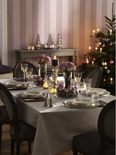 table noel mauve