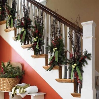 guirlande noel escalier