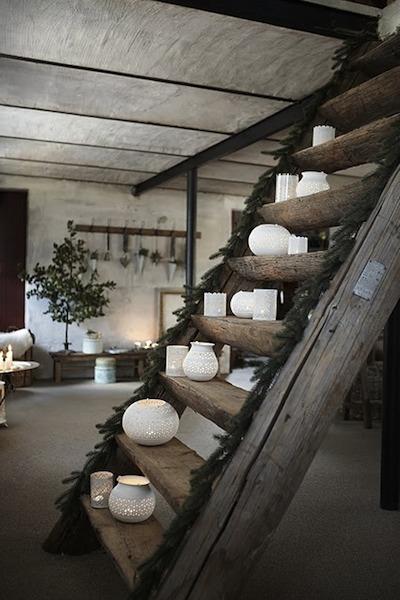 No l d corez escaliers et chemin es des mod les pour s for Idee deco noel exterieur naturel