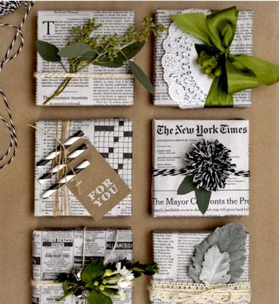 des id es pour vos paquets cadeaux la tendance de cette ann e. Black Bedroom Furniture Sets. Home Design Ideas