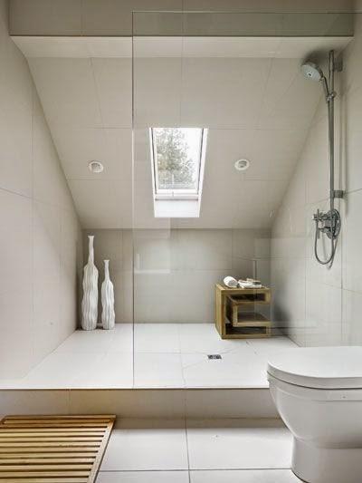 Installer une douche en soupente id es et mod les for Cabine de douche pour sous pente