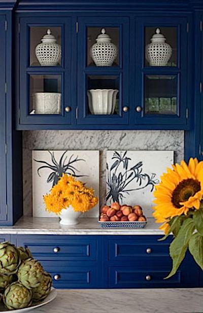 Peinture de Cuisine Meuble Cuisine Bleu TurquoiseUn meuble bleu dans