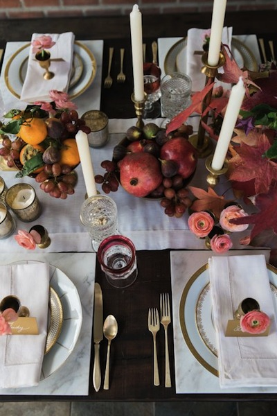 decor table automne