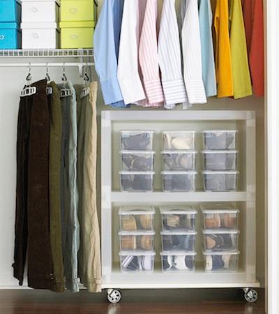 Un dressing bien organis astuces de rangement - Comment faire un dressing pas cher ...