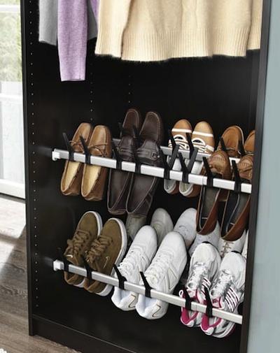 Un dressing bien organis astuces de rangement - Rangement chaussures a suspendre ...