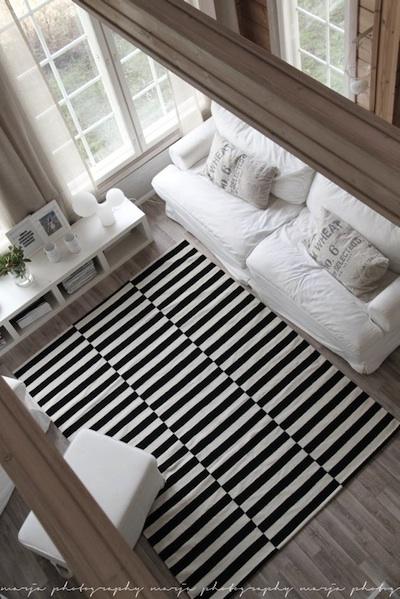 Tapis Ikea Blanc Et Noir Enredada