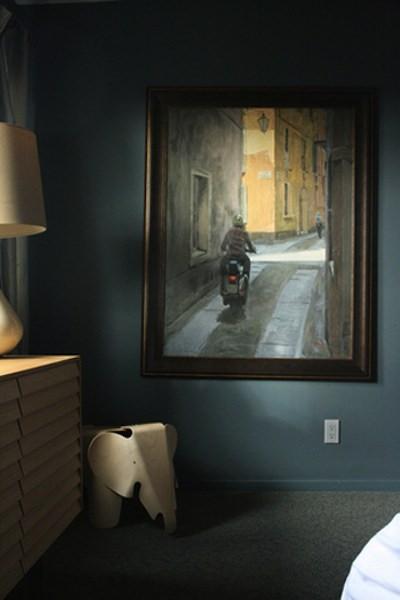 Bleu et beige des valeurs sures en d coration ambiances vair es - Deco chambre bleu et marron ...