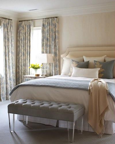 Bleu et beige: des valeurs sures en décoration. Ambiances vairées.
