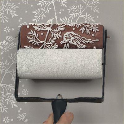 Le rouleau qui remplace le papier peint - Rouleau de peinture a motif ...