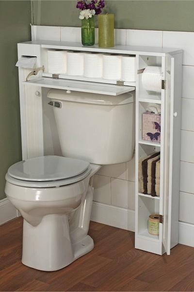 meuble toilette gain de place - Meuble Wc Design