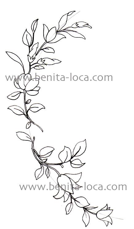 guirlande de fleurs à imprimer