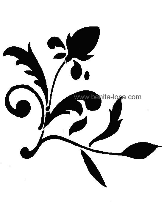 pochoir dangle motif fleuri classique