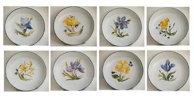 Peinture sur porcelaine 8 mod les de fleurs pour vos d cors - Peindre sur verre 100 modeles originaux ...