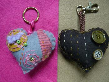 Ptit coeur porte clefs l 39 atelier de jojo - Fabriquer porte bijoux facile ...