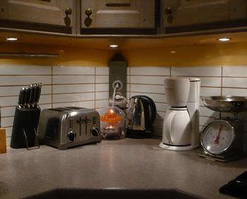 D coration de la cuisine soignez l 39 clairage exemples for Rampe eclairage cuisine