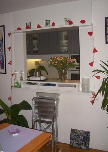 Id e d co percer le mur de la cuisine pour profiter de - Cloison amovible sans percer ...