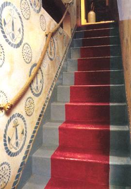 Decorer l\'escalier de la cave: exemple