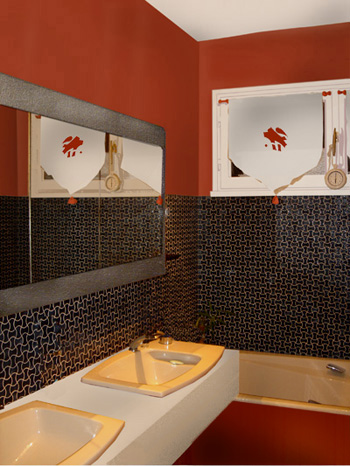 Salle de bain grise et rose salle de homeinterior - Salle de bains grise ...