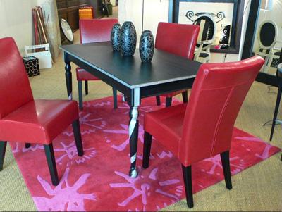 Id es et mod les pour relooker une table - Customiser une table en bois ...