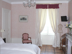 Les chambres du domaine du mont verrier - Papier peint romantique chambre ...