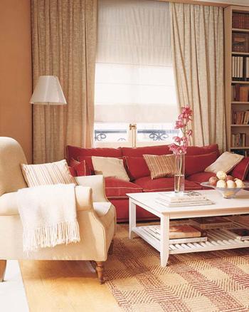Deco Salon Beige Et Rouge
