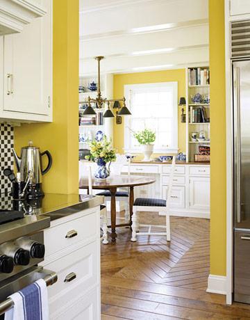 cuisine peinte en jaune