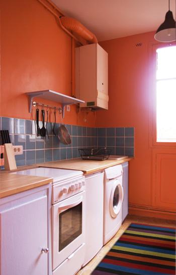 Cuisine transform e - Modele de chambre peinte ...