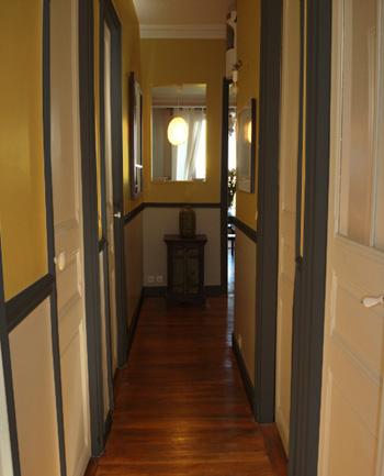 Id e d co trois couleurs pour le d cor d 39 une entr e et - Idee de couleur pour un couloir ...