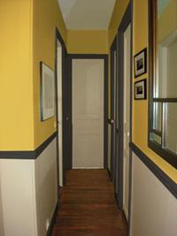 Id e d co trois couleurs pour le d cor d 39 une entr e et - Modele de peinture pour couloir ...