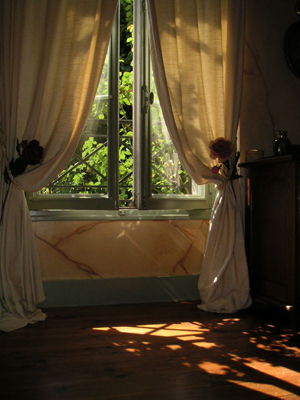Imiter le marbre sur les murs pour une salle de bains l 39 ancienne - Rideaux salle de bain ...