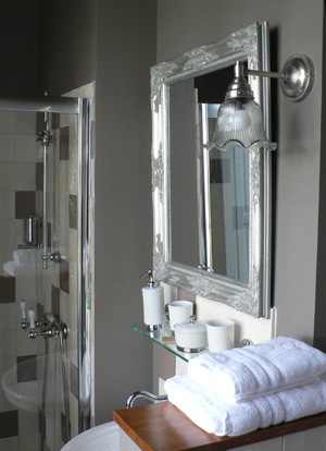 Une salle de bains tout en gris: chic et reposant