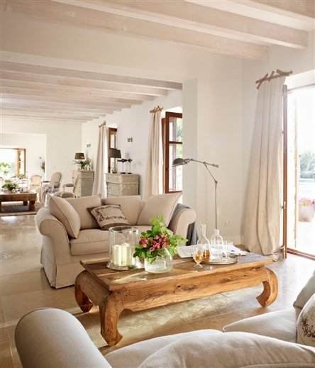 Comment decorer un grand salon - Amenager un salon en longueur ...