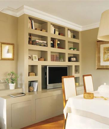 De la couleur sur les murs de son salon recette pour ne - Muebles de escayola modernos ...