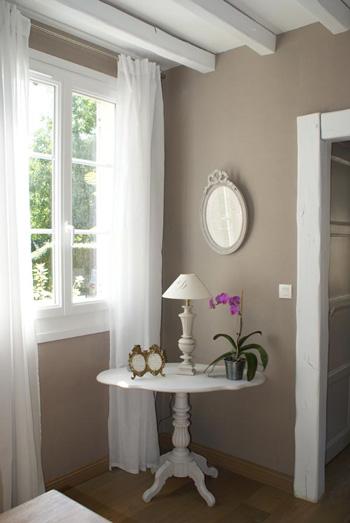 Couleur lin naturel - Mur couleur lin et gris ...