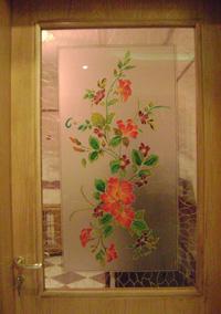 vitre peinte dun bouquet