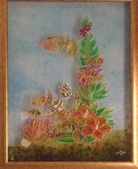 Peindre sur une vitre conseils et id es pour d corer - Peinture sur plateau en verre ...